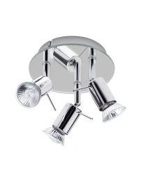 Mirrored Ceiling Spotlight Plate - 3 Light