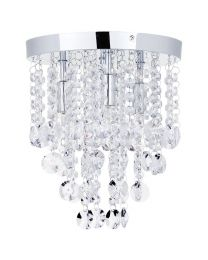 Montego Semi Flush Ceiling Light Crystal Effect 4 Light Chrome