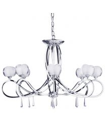 Marta 8 Light Glass Ceiling Light - Chrome