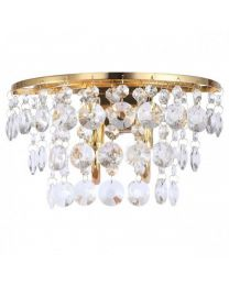 c01-lc1930 GOLD CRYSTAL WALL LIGHTS