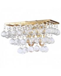 c01-lc1934 GOLD CRYSTAL WALL LIGHT