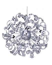 Twirl 12 Light Chrome Pendant Ceiling Light
