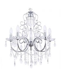 Madonna 5 Light Dual Mount Chrome Chandelier