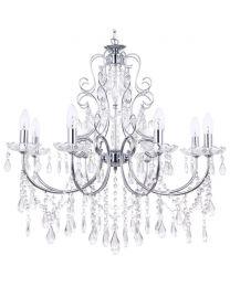 Madonna Dual Mount Chandelier - 8 Light - Chrome