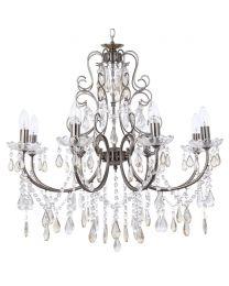 Madonna 8 Light Dual Mount Chandelier - Antique Brass