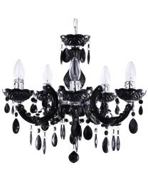 Marie Therese Chandelier 5 Light Dual Mount - Black