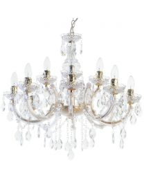 Marie Therese 12 Light Dual Mount Chandelier - Gold