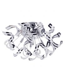 Twirl 6 Light Semi Flush Ceiling Light - Chrome