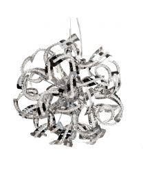 Twirl 6 Light Semi Flush Ceiling Pendant - Chrome