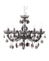 Marie Therese 5 Light Chandelier - Smoke