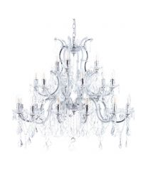Marie Therese 21 Light Dual Mount Chandelier - Chrome