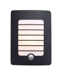 Stanley Castille Outdoor Rectangular Wall Light with PIR Sensor - Black