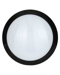 Stanley Como IP66 Outdoor LED Flush Ceiling or Wall Light with Sensor - Black