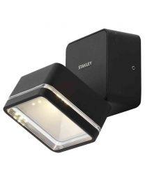 Stanley Tiber Outdoor LED Square Die-Cast Adjustable Wall Light - Black