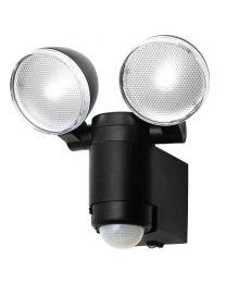 Stanley Moritz Twin Outdoor 2 Watt LED Battey Powered Flood Light - Black