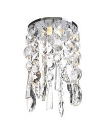 Marquis by Waterford - Bresna Crystal Recessed Ceiling Light with Cool White LED Bulbs - Chrome