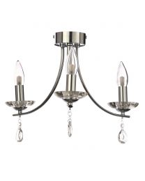 Marquis by Waterford - Bandon LED 3 Light Semi Flush Ceiling Light - Chrome