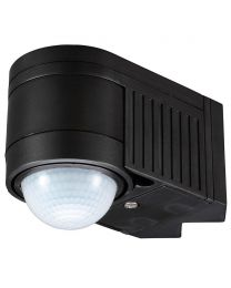 Luton Outdoor 360 Degree Corner Mount PIR Sensor - Black