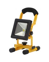 Slimline IP65 10 Watt LED Outdoor Rechargeable Work Light - Yellow and Black