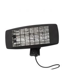 Rounded Rectangle 48.2cm 2000W Patio Radiant Wall Mounted Heater - Black