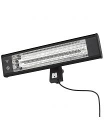 Rectangle 65cm 1800W Patio Radiant Wall Mounted Heater - Black