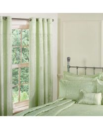 Regency New Jacquard Green Curtains 66x54 in