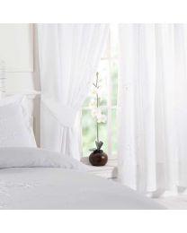 Victoria Pair of Curtains - White