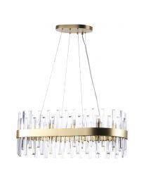 Visconte Coco Oval Ceiling Pendant - Satin Gold