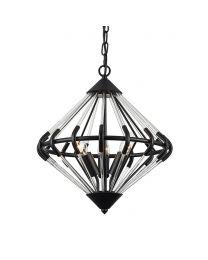 Corsica 3 Light Ceiling Pendant - Black