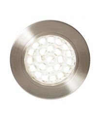 Charles Circular Cool White LED Under Kitchen Cabinet Light - Satin Nickel