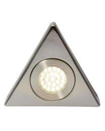 Scott Triangular Cool White LED Under Kitchen Cabinet Light - Satin Nickel