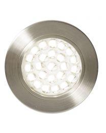 Charles Circular Daylight LED Under Kitchen Cabinet Light - Satin Nickel