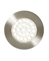 Charles Circular Warm White LED Under Kitchen Cabinet Light - Satin Nickel