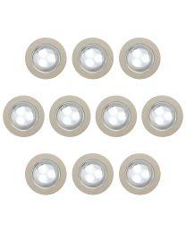 10 Light Outdoor LED Plinth or Decking Lighting Kit - Stainless Steel