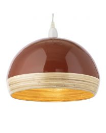 Dome Bamboo Easy to Fit Shade - Burnt Orange