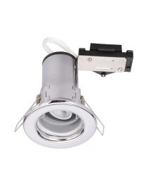 Fixed Fire Rated Downlighter with LED Bulb - Chrome