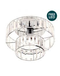 Gizelle Flush Ceiling Light - Chrome