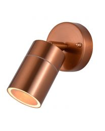 Kenn 1 Light Adjustable Outdoor Wall Light - Copper