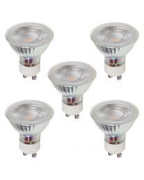 Pack of 5 Natural White 3 Watt GU10 230lm LED Light Bulbs