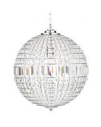 Miley Large Globe Ceiling Pendant - Chrome