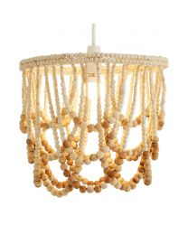 Pilli Beaded Easy to Fit Lamp Shade - Natural