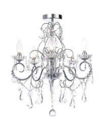 Vara 5 Light Bathroom Chandelier - Chrome