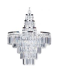 Vasca Crystal Bar Large Bathroom Chandelier - Chrome