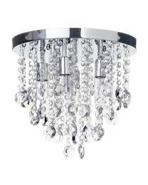 Turin 6lt Bathroom Ceiling Semi Flush Light