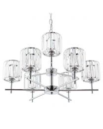 Skydda 9 Light Bathroom Chandelier - Chrome