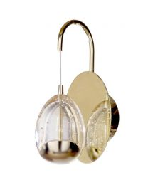 LED Wall Light Water Drop Visconte Bulla 1 Light Gold