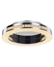 Visconte Spark LED Circular Flush Ceiling Light - Chrome
