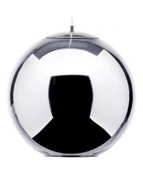 Visconte Large Leo 1 Light Ceiling Pendant - Chrome