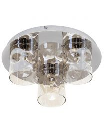 Visconte Monet 3 Light LED Flush Ceiling Light - Champagne