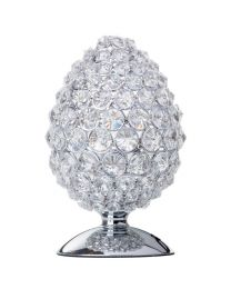 Bola Crystal 1 Light Table Lamp - Chrome